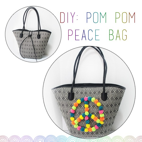 DIY: Peace, Love & Pom Poms