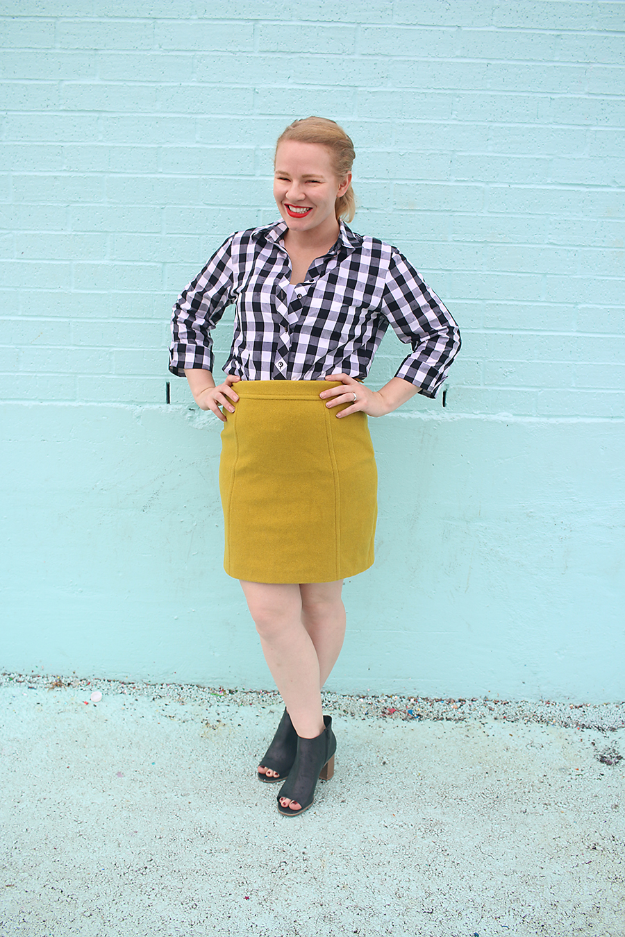 Styling Booties + Wool Skirt