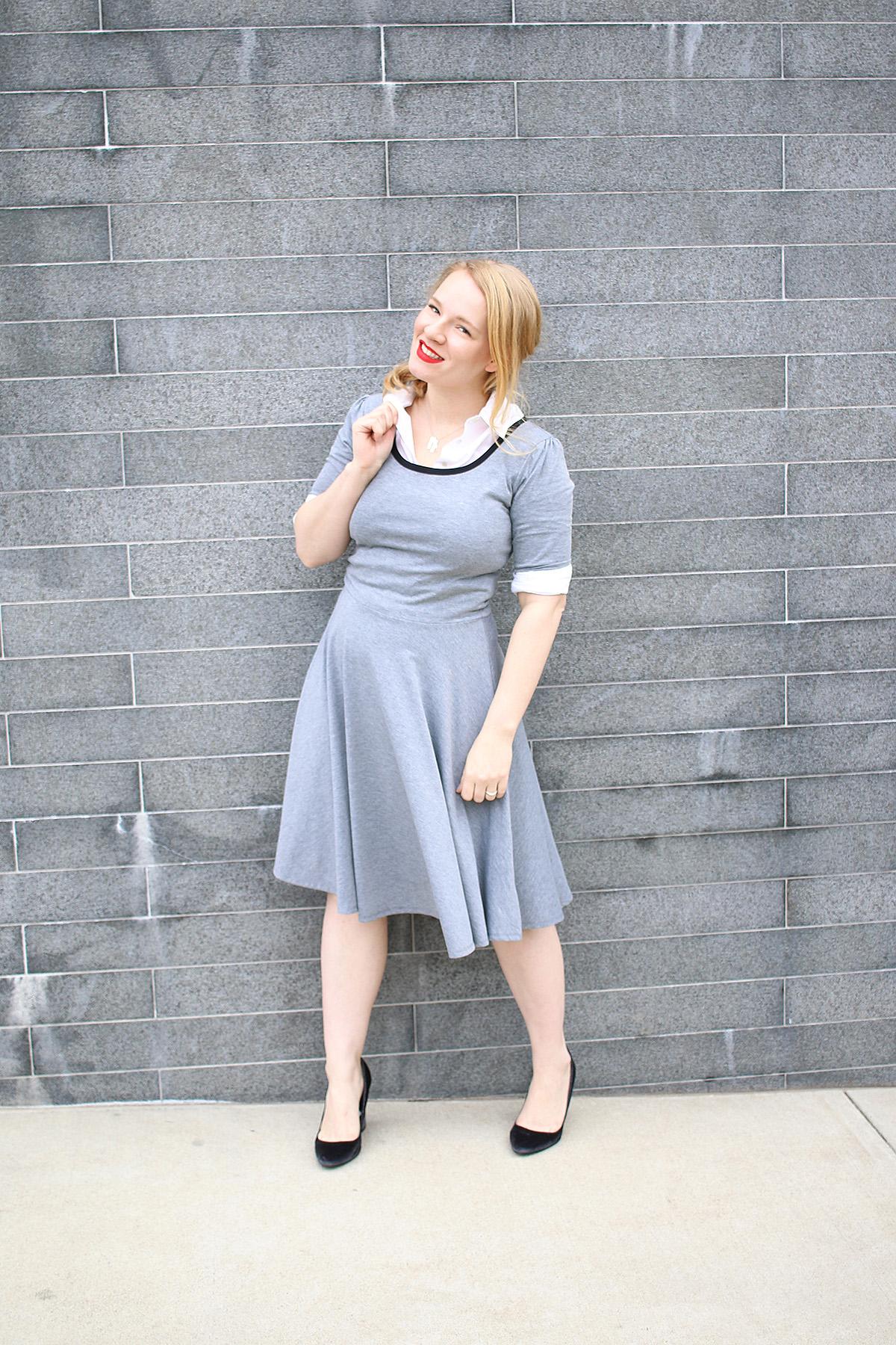 LuLaRoe Nicole Dress with Button Down