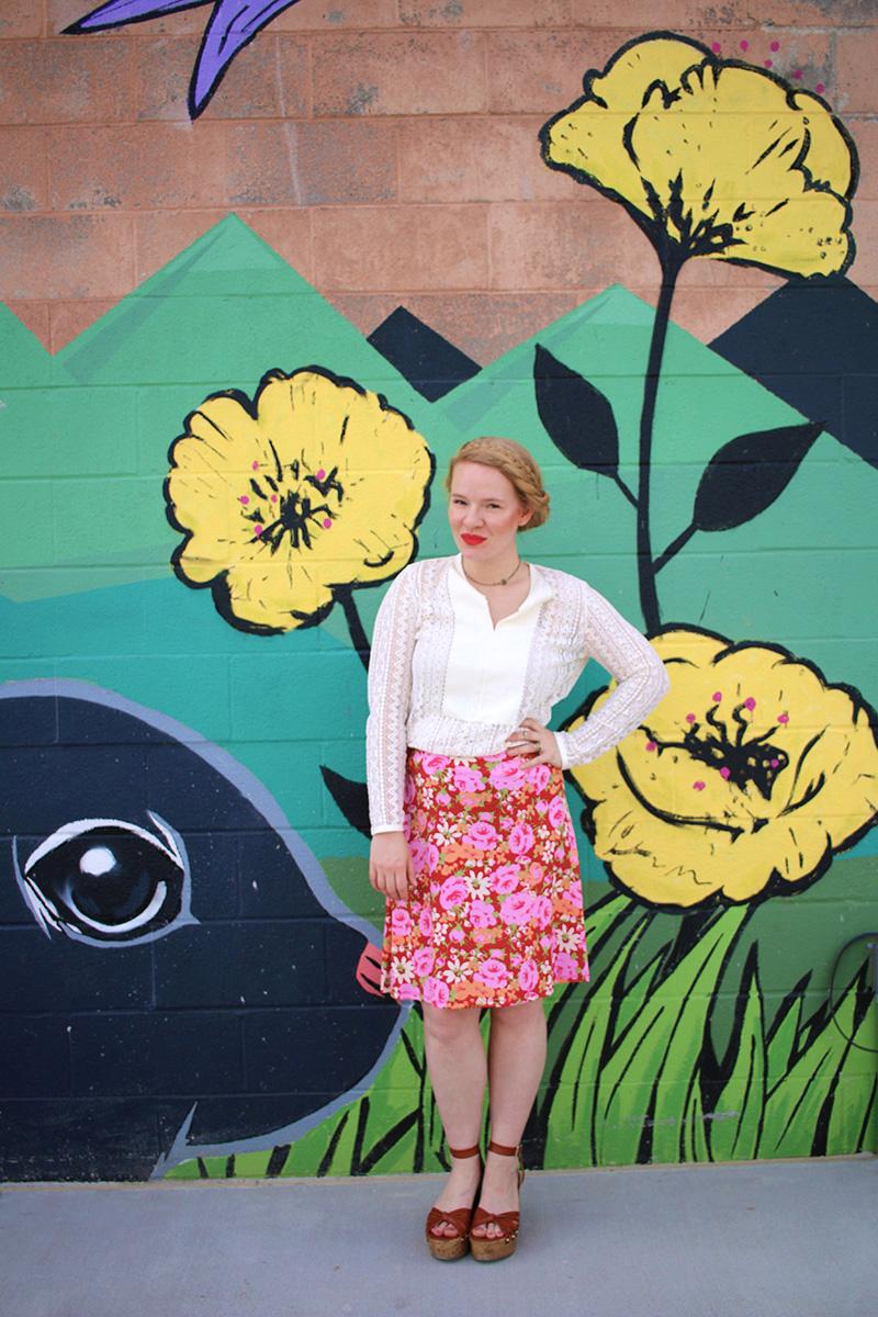 LuLaRoe Azure Floral Skirt & Spring Time Vibes