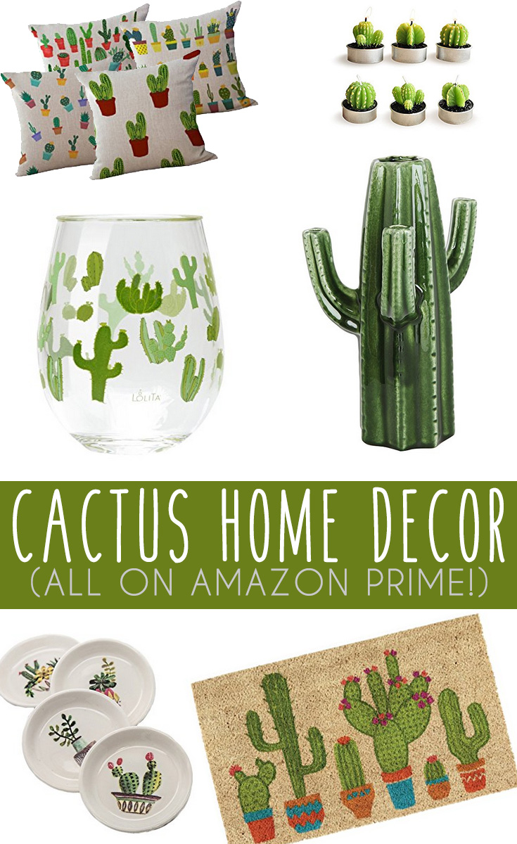 Cactus home decor finds on amazon it 39 s pam del - Decorative items for home ...
