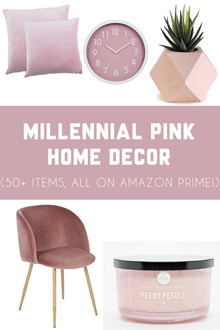 Millennial pink home decor finds on amazon prime it 39 s for Home decorations amazon