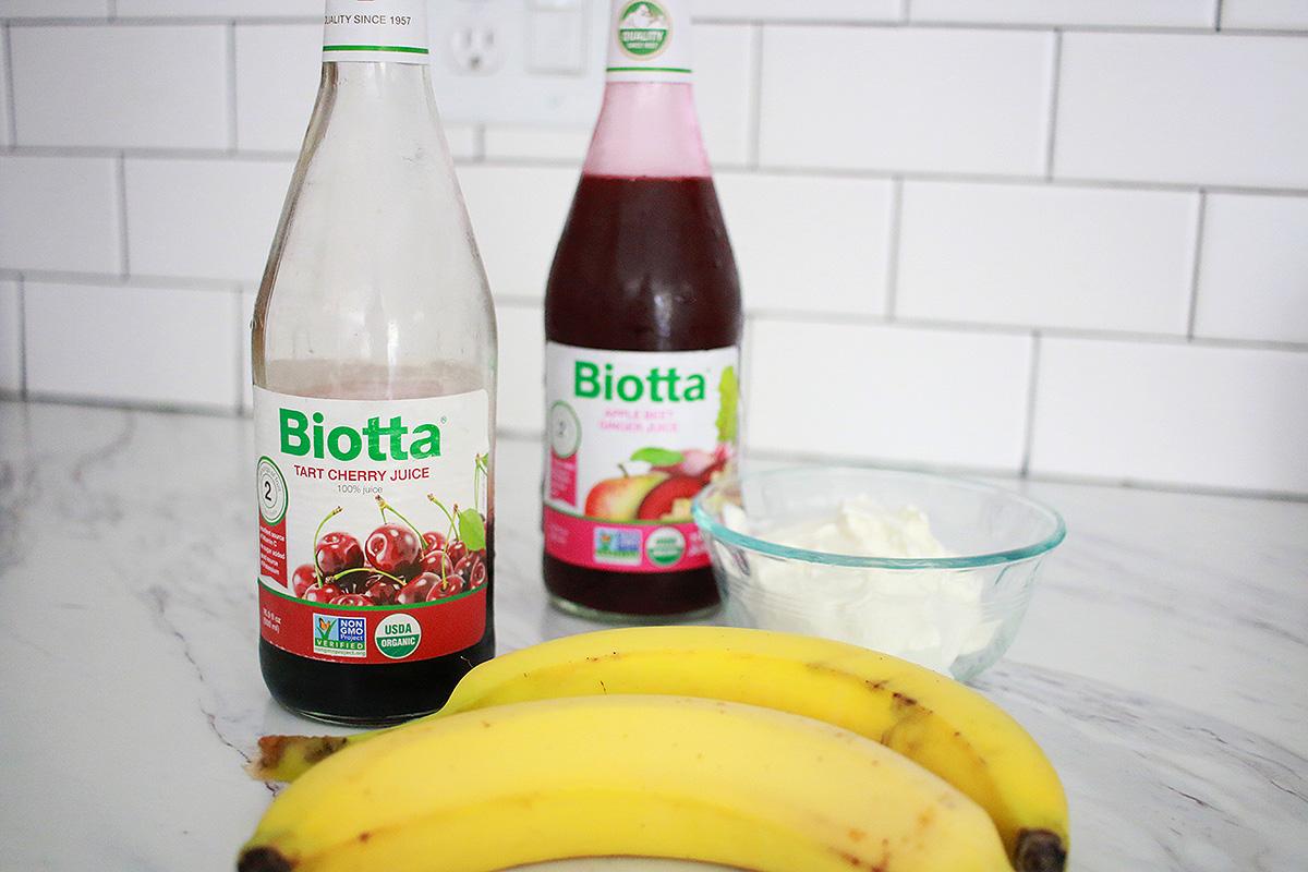 Protein Immune Boosting Cherry Smoothie with Biotta