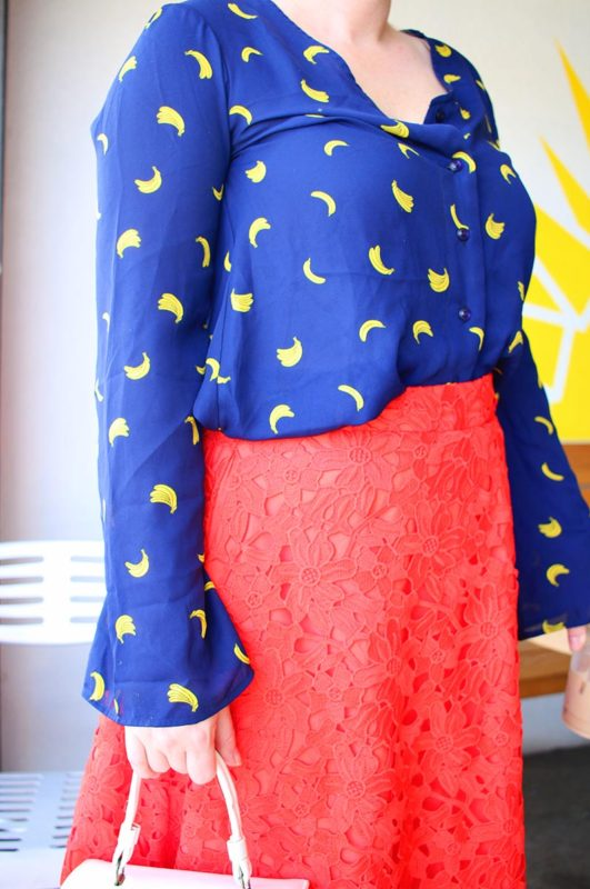I'm Bananas For Thrifting | Navy & Orange Outfit