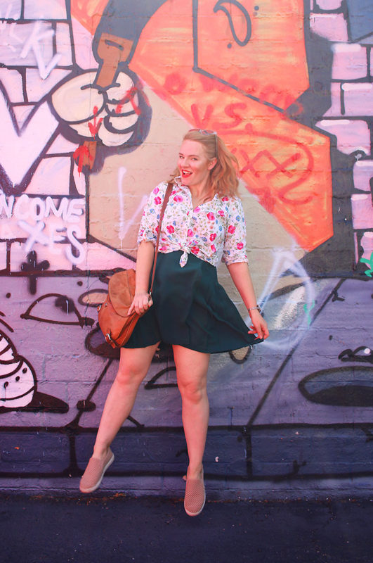 Pleated Skirt & Florals | Thrift Store Style