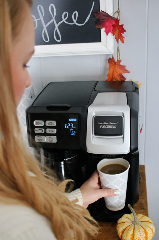 Fall Coffee Bar with Hamilton Beach FlexBrew