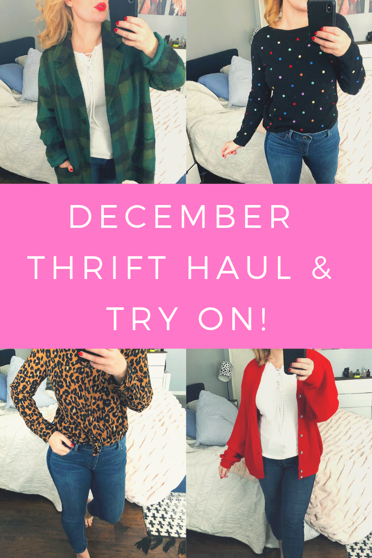 thrift haul try on