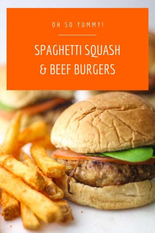 Spaghetti Squash Spiked Burgers
