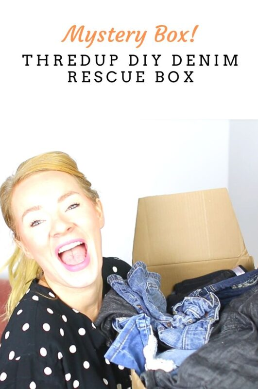ThredUP Rescue DIY Denim Haul & Unboxing Video