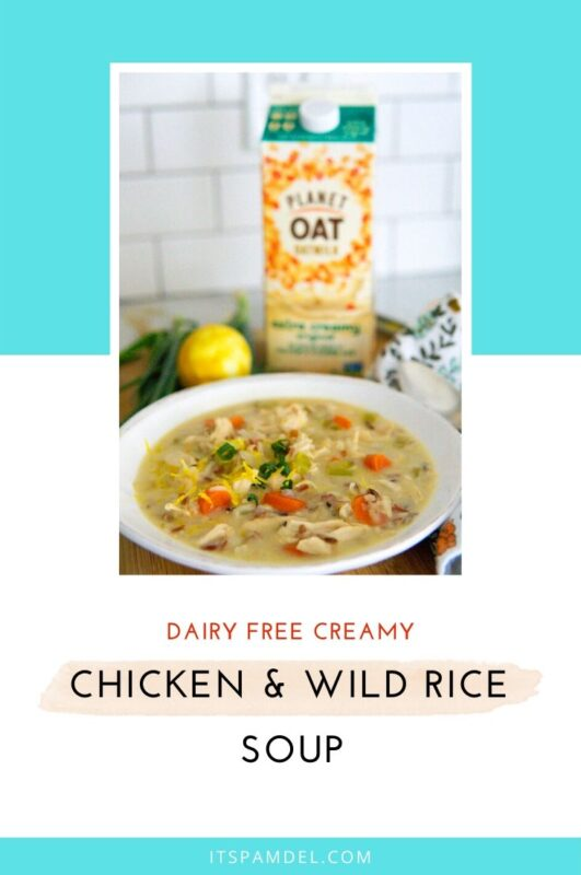 Dairy-Free Creamy Chicken + Wild Rice Soup