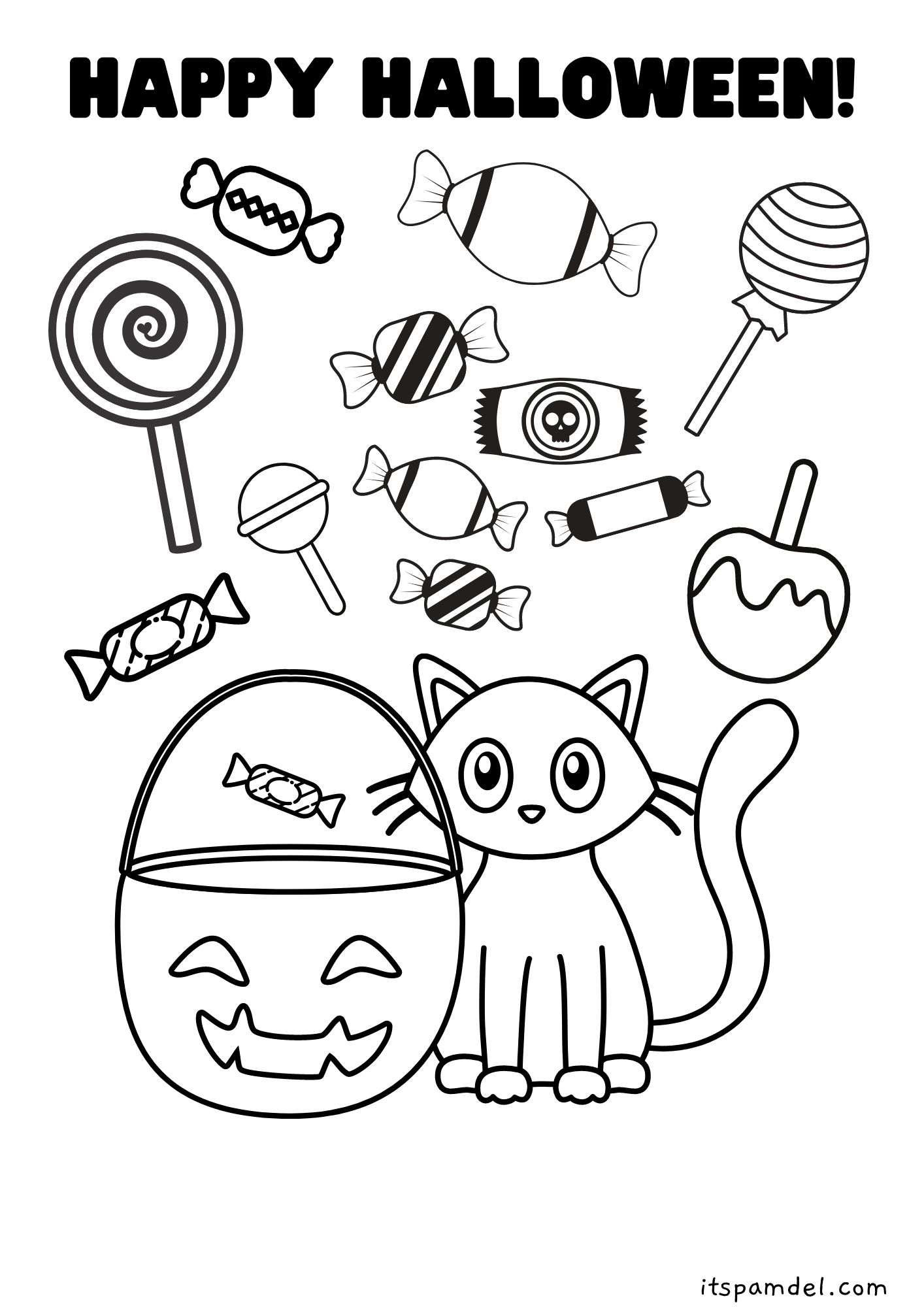 Free Printable Halloween Coloring Pages For Kids It S Pam Del