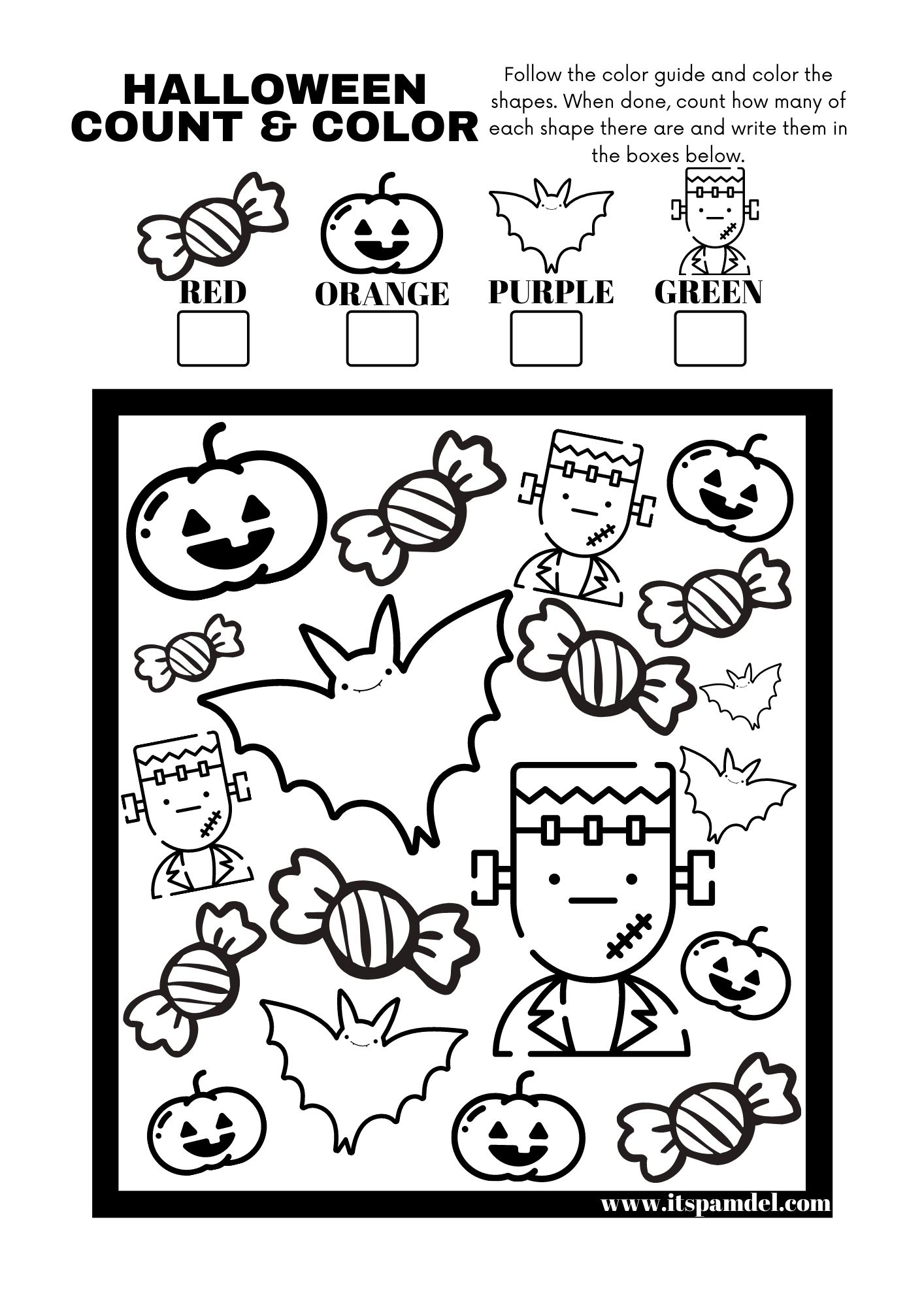 Free Printable: Halloween I Spy Count and Color Activity ...